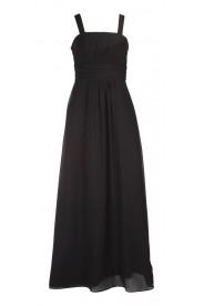 Klassisches Abendkleid in Schwarz mit Miederschnürung