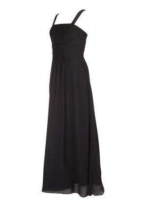 Klassisches Abendkleid in Schwarz mit Miederschnürung - bei vipdress.de günstig shoppen