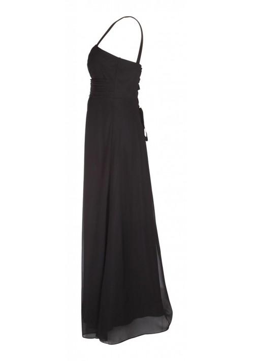 Klassisches Abendkleid in Schwarz mit Miederschnürung - günstig bei VIP Dress