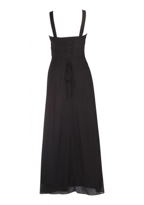 Klassisches Abendkleid in Schwarz mit Miederschnürung - günstig kaufen bei vipdress.de