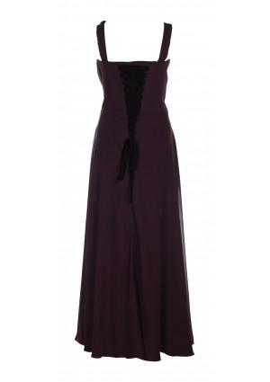 Langes Abendkleid mit Blütenträger in Schwarz - bei VIP Dress günstig kaufen