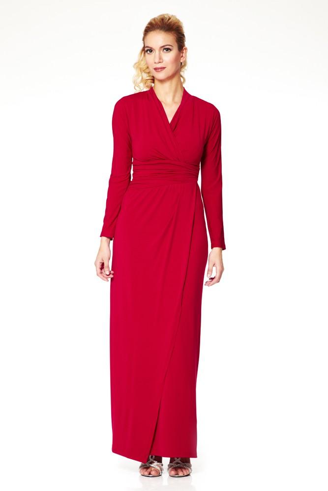 Elegantes Festkleid in Bordeaux - bei VIP Dress online bestellen ... aee57e65ed