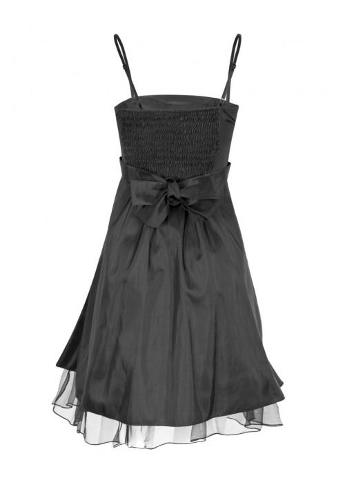 Schwarzes Cocktailkleid mit Lagenoptik und Tüllbesatz - günstig bei VIP Dress