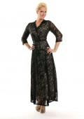 Abendkleid in Schwarz aus Spitze mit 3/4-Arm