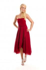 Rotes Cocktailkleid im stylischen Bandeau-Look