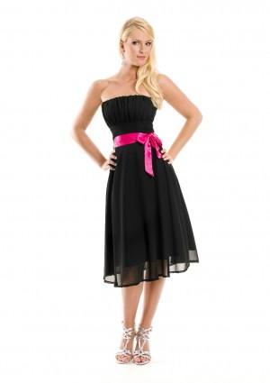 Schwarzes Cocktailkleid mit aparter Schleife  - bei VIP Dress günstig kaufen