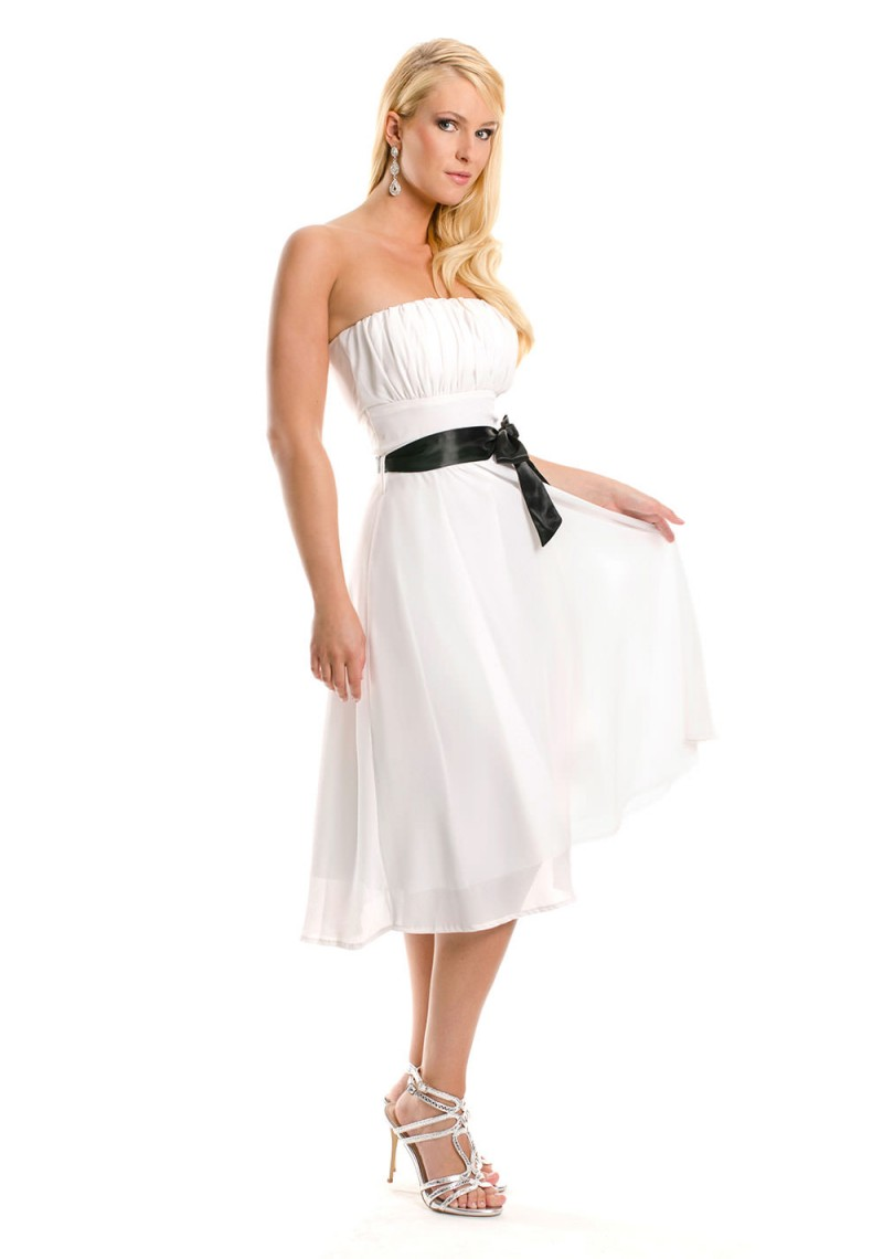 bandeau kleid in wei f r den abiball vip dress