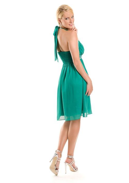 Cocktailkleid in Grün mit Strass - schnell und günstig bei VIP Dress