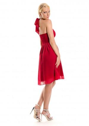 Rotes Cocktailkleid im Empirestil - bei VIP Dress günstig kaufen