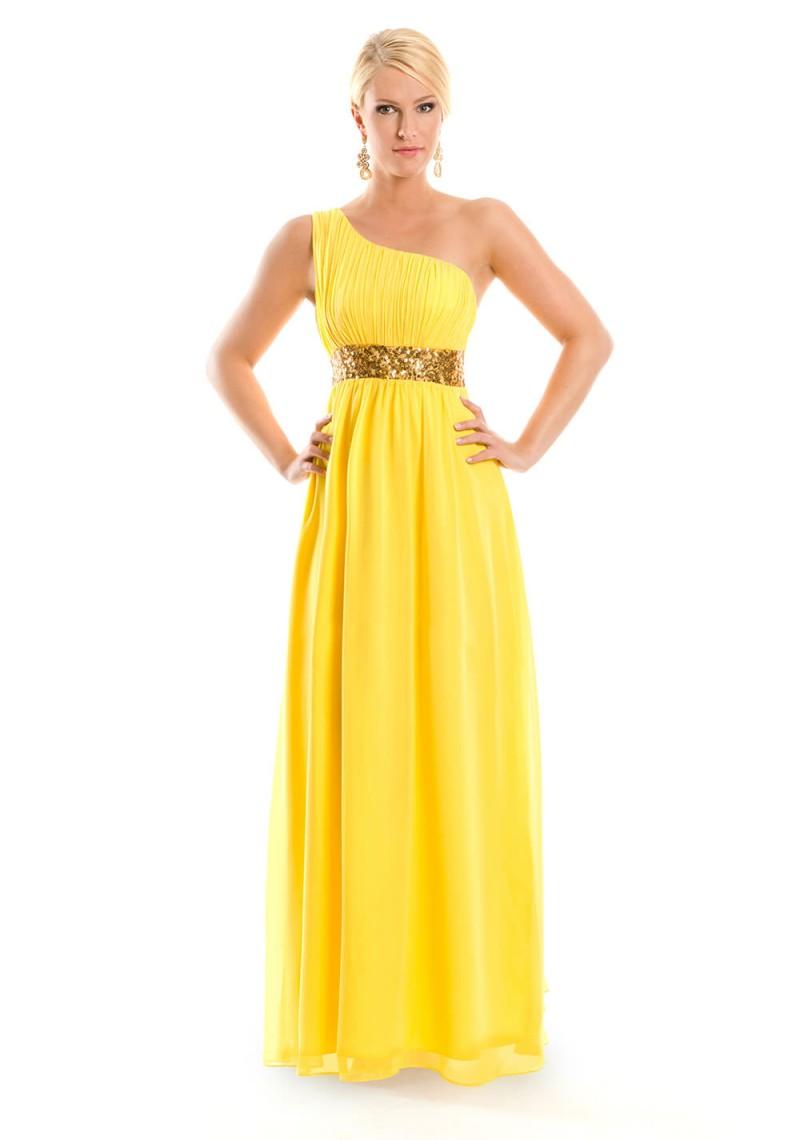 Abendkleider in Gelb ➔ bei VIP Dress online kaufen