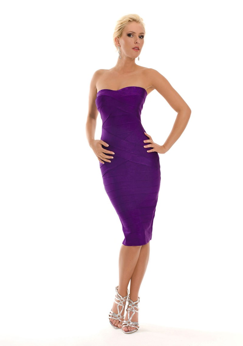 Glamouröses Abendkleid in Lila bei VIP Dress entdecken