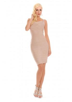 Bandagekleid in Beige für Business und Freizeit  - günstig bestellen bei VIP Dress