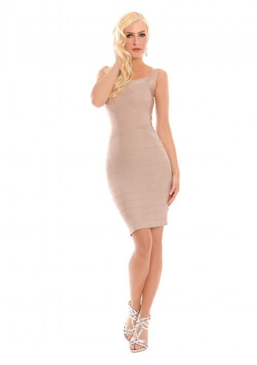 Bandagekleid in Beige für Business und Freizeit  - bei VIP Dress online bestellen