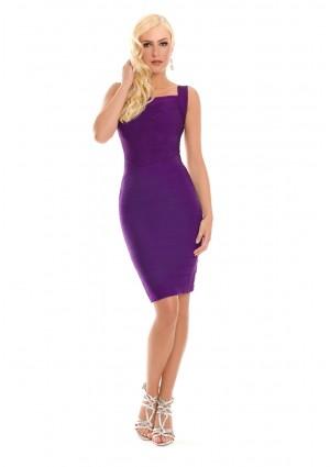 Lila Bandagekleid im Etuikleid-Stil - bei VIP Dress online bestellen