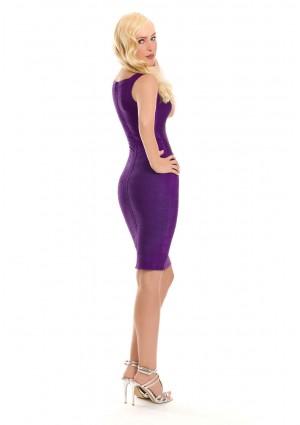 Lila Bandagekleid im Etuikleid-Stil - günstig bei VIP Dress
