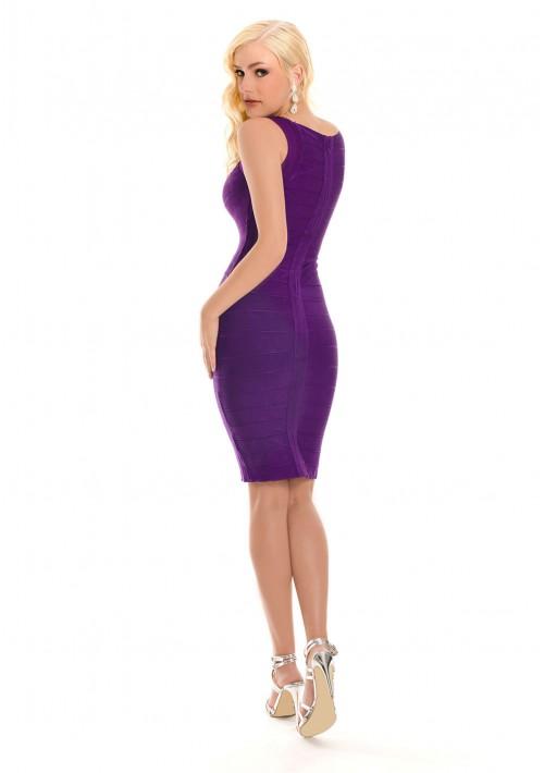 Lila Bandagekleid im Etuikleid-Stil - günstig shoppen bei vipdress.de