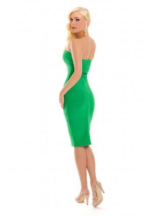 Bandeau Bodyconkleid in Grün mit schulterfreiem Schnitt - günstig bestellen bei VIP Dress