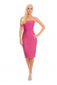 Bandeau Bandage Bodycon-Kleid in Pink