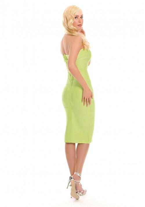 Bandeau Bandagekleid in Hellgrün - online bestellen bei vipdress.de
