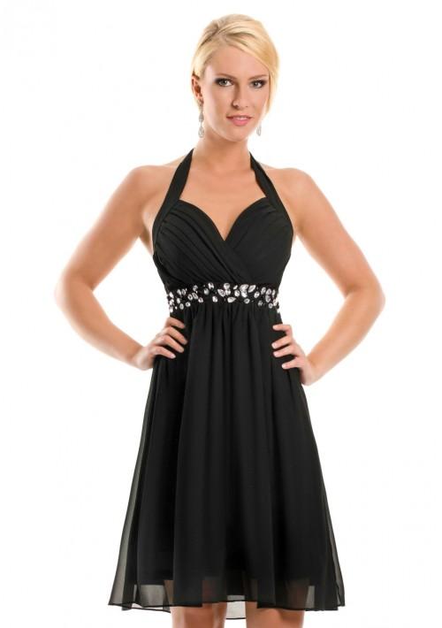 Empire-Cocktailkleid in Schwarz - bei VIP Dress online bestellen ... a3c8da1823