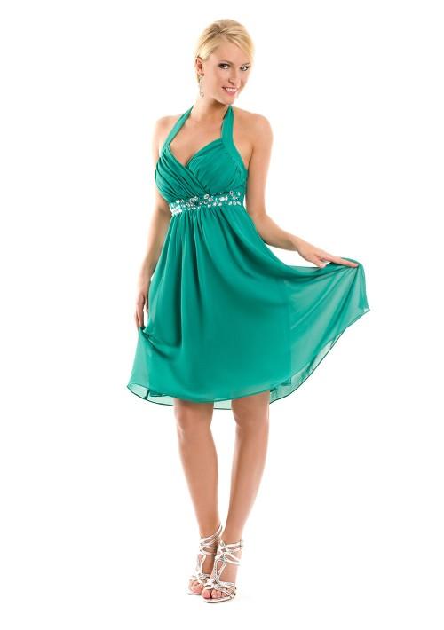 Cocktailkleid in Grün mit Strass - bei VIP Dress online bestellen