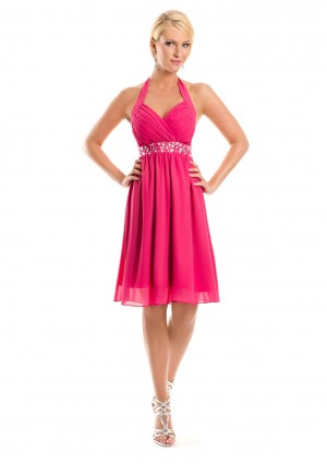 Cocktailkleid in Pink im Empirestil - bei VIP Dress online bestellen