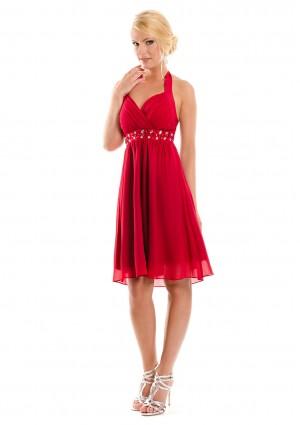 Rotes Cocktailkleid im Empirestil - schnell und günstig bei VIP Dress