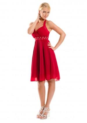 Rotes Cocktailkleid im Empirestil - bei VIP Dress online bestellen