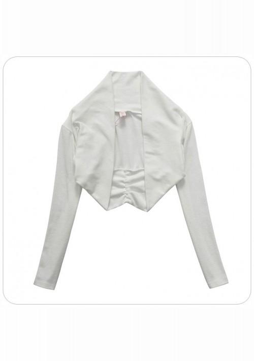 Bolero in Weiß mit langem Arm - bei VIP Dress online bestellen