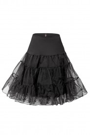 Trendiger Petticoat in Schwarz  ideal zum Rockabilly oder Cocktailkleid