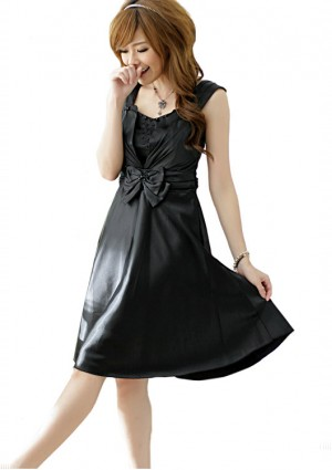 Kurzes Ballkleid in Schwarz mit Taillenschleife - <br /> <b>Notice</b>:  Undefined index: altTail in <b>/home/vipdress/public_html/tools/smarty/compile/3a21d04bf1b909ed03be781795539a91ac65494e.file.product.tpl.php</b> on line <b>264</b><br />