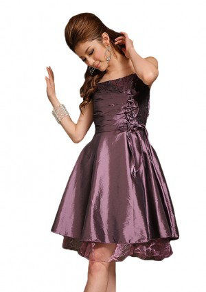 Kurzes Abendkleid in Lila  -
