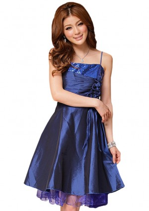 Elegantes Abendkleid in Blau mit kurzem Schnitt - <br /> <b>Notice</b>:  Undefined index: altTail in <b>/home/vipdress/public_html/tools/smarty/compile/3a21d04bf1b909ed03be781795539a91ac65494e.file.product.tpl.php</b> on line <b>264</b><br />