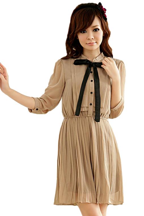 brand new 42d5d 6b1cd Vintage Ballkleid in Braun online bestellen ☆
