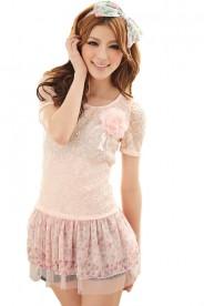 Minikleid im Vintage Style in Rosa