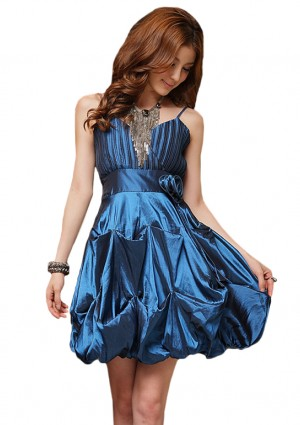 Cocktailkleid mit Ballonrock in Blau - <br /> <b>Notice</b>:  Undefined index: altTail in <b>/home/vipdress/public_html/tools/smarty/compile/3a21d04bf1b909ed03be781795539a91ac65494e.file.product.tpl.php</b> on line <b>264</b><br />