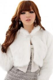 Elegante Plüschjacke in stilvollem Weiß