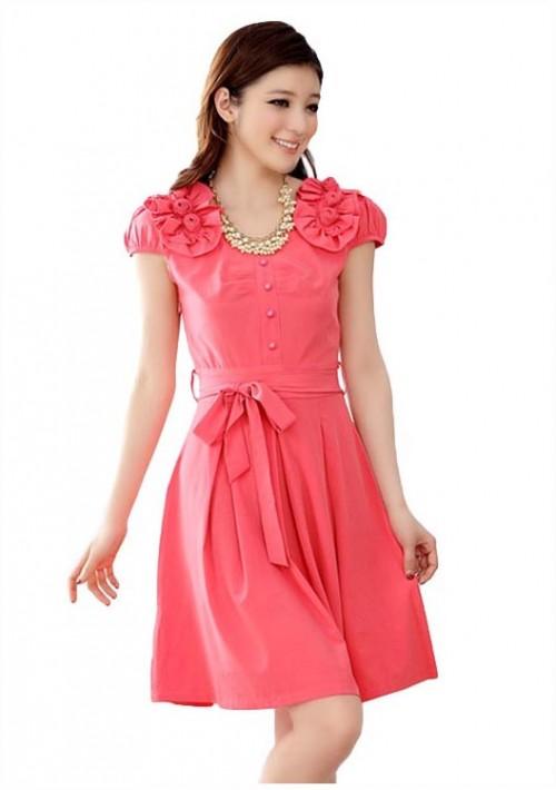 Rotes Abendkleid mit vielen Highlights  - günstig bei VIP Dress