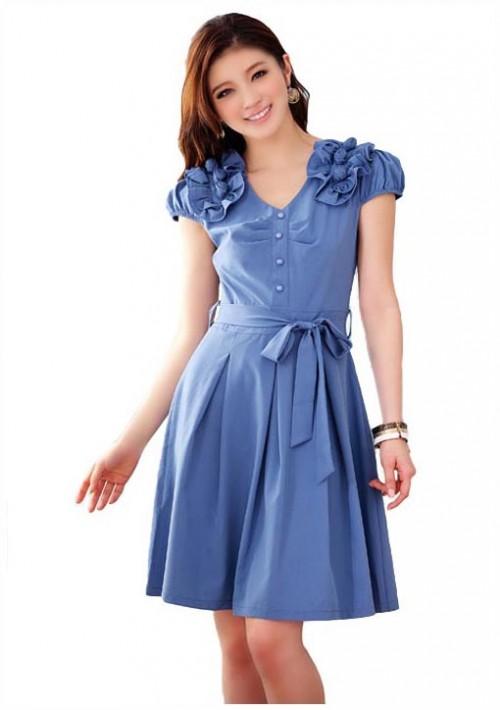 Blaues Abendkleid mit Esprit - bei vipdress.de günstig shoppen