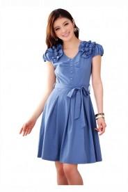 Blaues Abendkleid mit Esprit