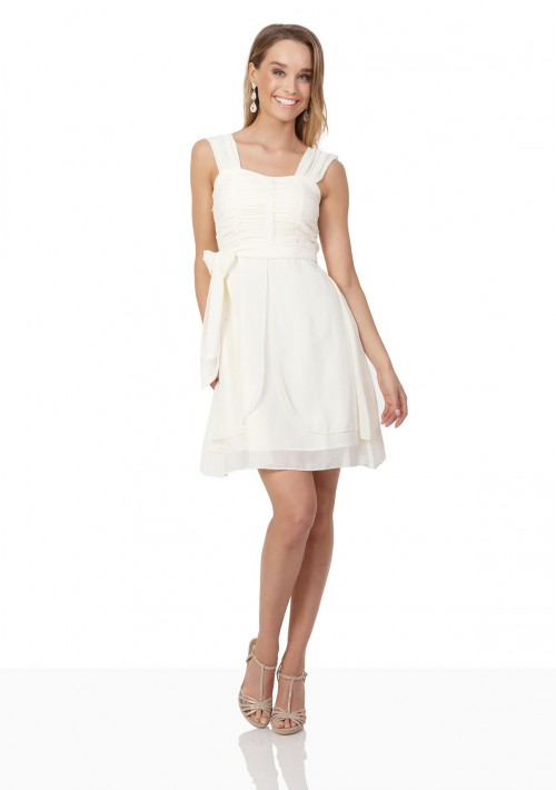 Cocktailkleid aus Chiffon in Creme - günstig bestellen bei VIP Dress