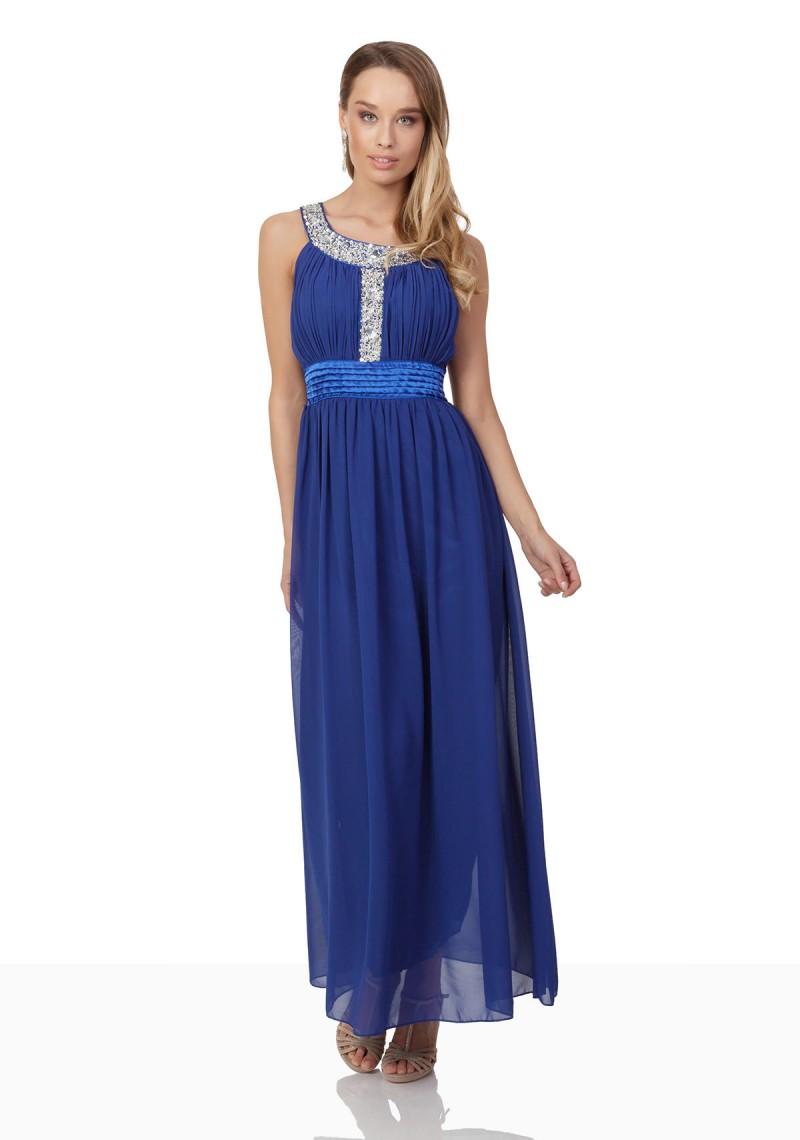 Blaues abendkleid mit strass
