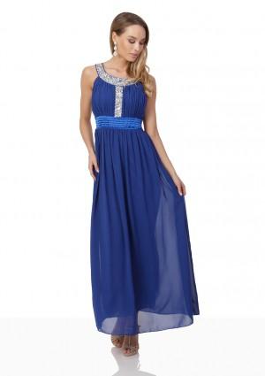 Blaues Abendkleid mit Strass-Dekolleté - günstig bestellen bei VIP Dress