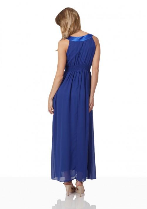 Blaues Abendkleid mit Strass-Dekolleté - schnell und günstig bei VIP Dress