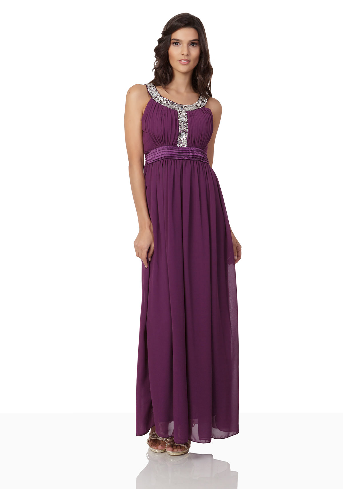 abendkleid in lila mit strassbesatz vip dress. Black Bedroom Furniture Sets. Home Design Ideas