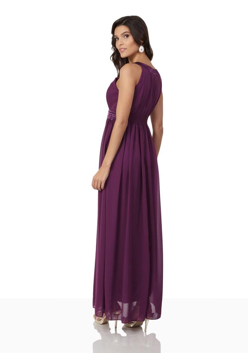 Langes Abendkleid in Lila mit Strass-Applikationen - online bestellen ...
