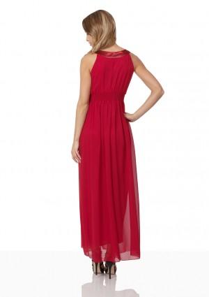 Abendkleid in Rot mit Strass-Ausschnitt - günstig bestellen bei VIP Dress