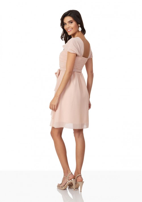 Cocktailkleid aus Chiffon in Apricot - bei VIP Dress online bestellen