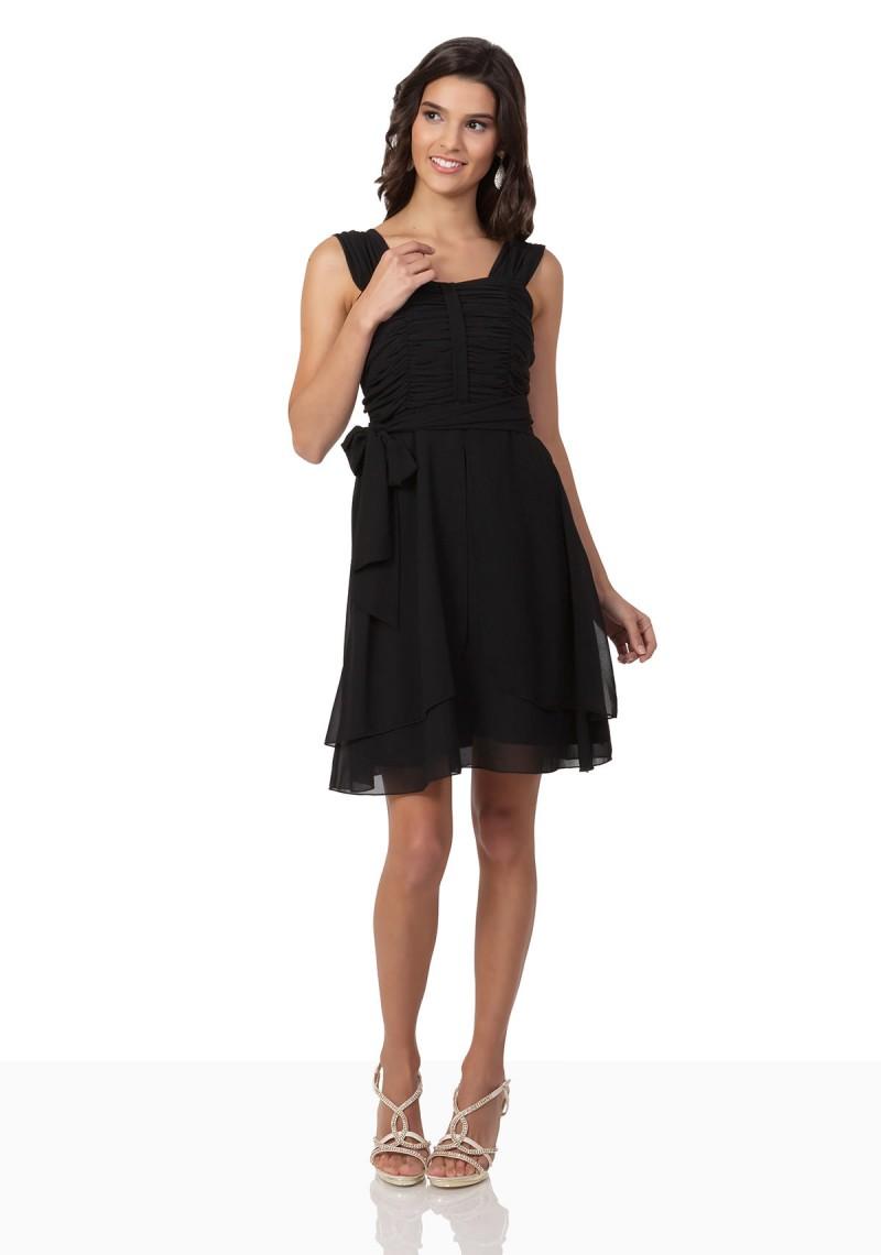newest 7071f 54bfb Cocktailkleid mit Schulterbedeckung in Schwarz online kaufen ✿