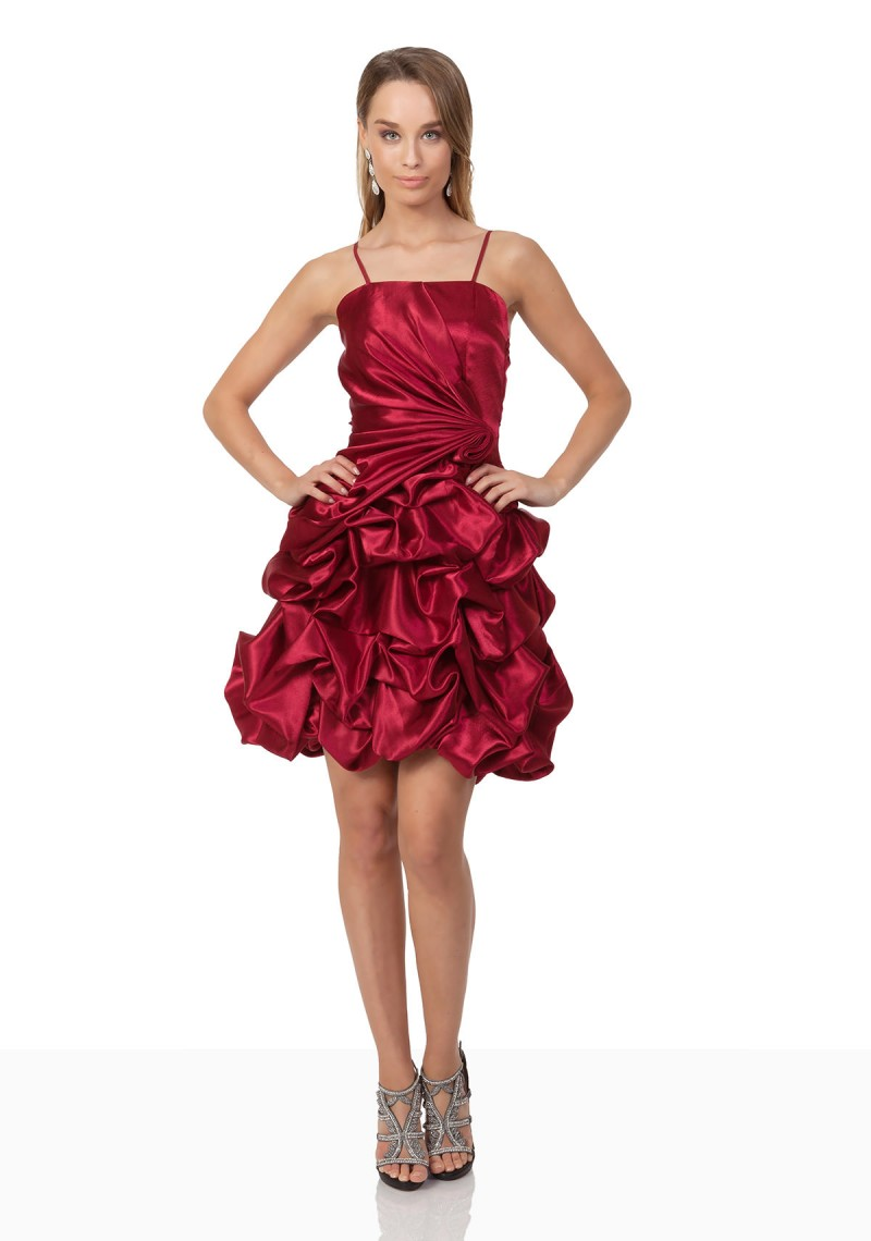 Stilvolles Cocktailkleid aus Satin in Rot online kaufen ♥
